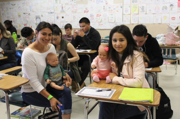 Seniors Lizbeth Avilez and Sonia Paredes embrace motherhood excitedly with their newborn babies Blake Avilez and Behati Paredes.