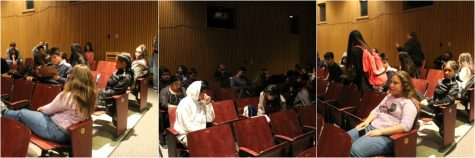 Students in the Mullin's theater wait boringly for detention to end.