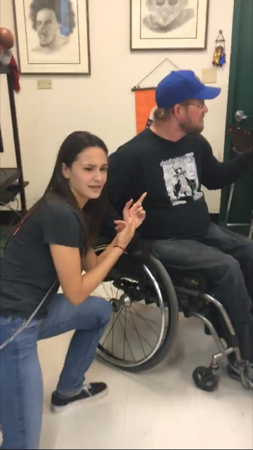 Ready, Set, Freeze! Staying in their pose, Cyenna Maldonado, a history student and Mr. Ashby are set side by side; ready to take on the Mannequin Challenge.