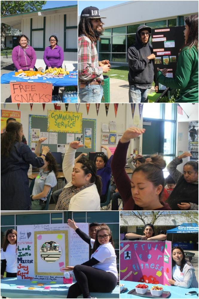The Health and Wellness Fair had many different booths and activities to help educate students about their health.