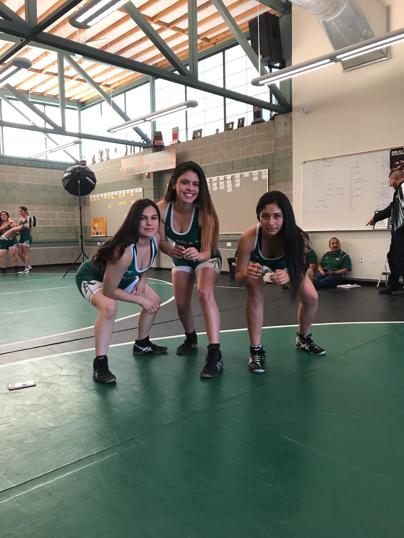 Left to right: Jessica Moreno, Jasmine Espinoza, Giselle Torres