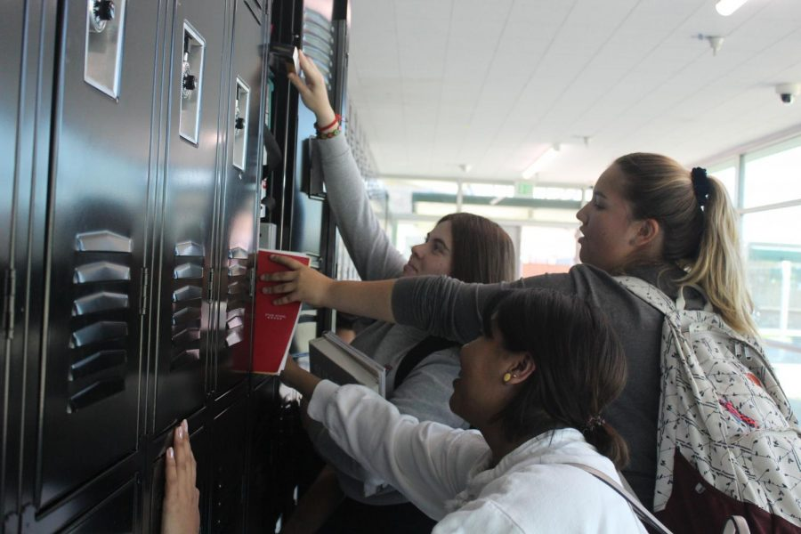 Upperclassmen are to share lockers this school year