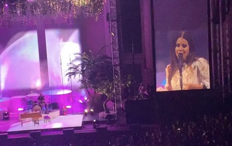 """Lana Del Rey performing """"Off To The Races"""" during the second half of the October 6, 2019, concert at The Greek Theatre in Berkeley, CA."""