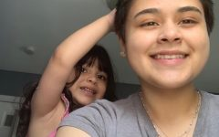 """After I cut my hair, one of my biggest fans was my little sister. Every morning she wakes up and comes over to pet my hair and tells me, """"Ooo I like your hair."""""""