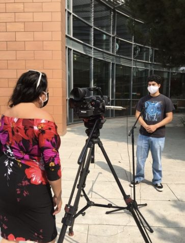 Alexis Mendez, Alisal Alumni and La Cosecha Member, shares their list of demands on an interview for Univision.