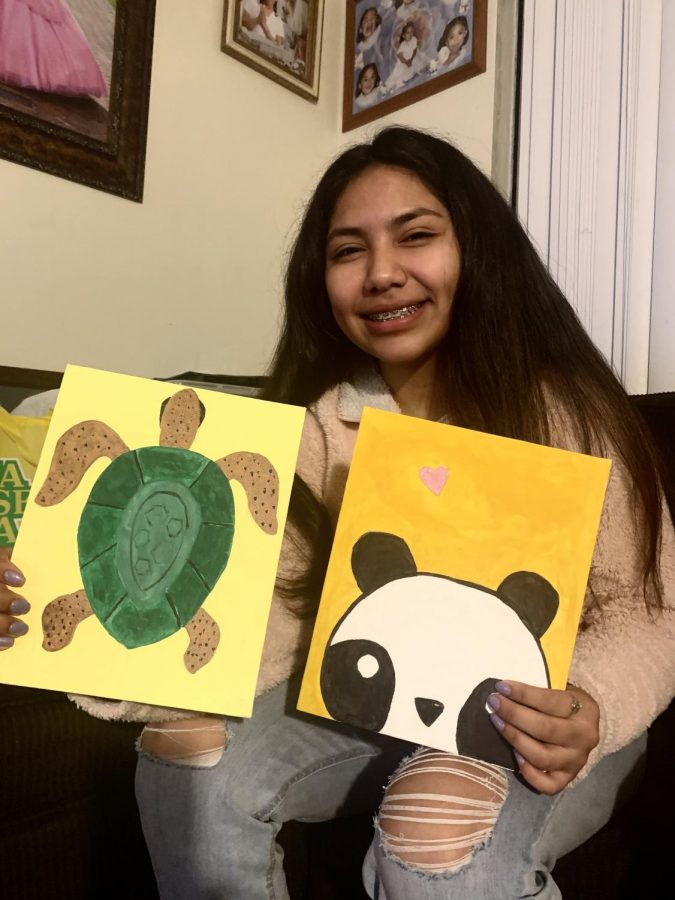 While I may not be the next Picasso, painting has helped keep me busy during quarantine. These two paintings were done in August as part of a friendly competition with my cousin to see who could produce the best painting in the fastest time. (I won, painting the turtle in 30 minutes.)