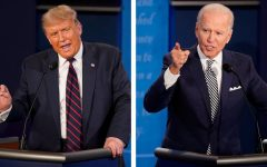 President Trump and Presidential Nominee Joe Biden facing off in the first presidential debate in Cleveland.